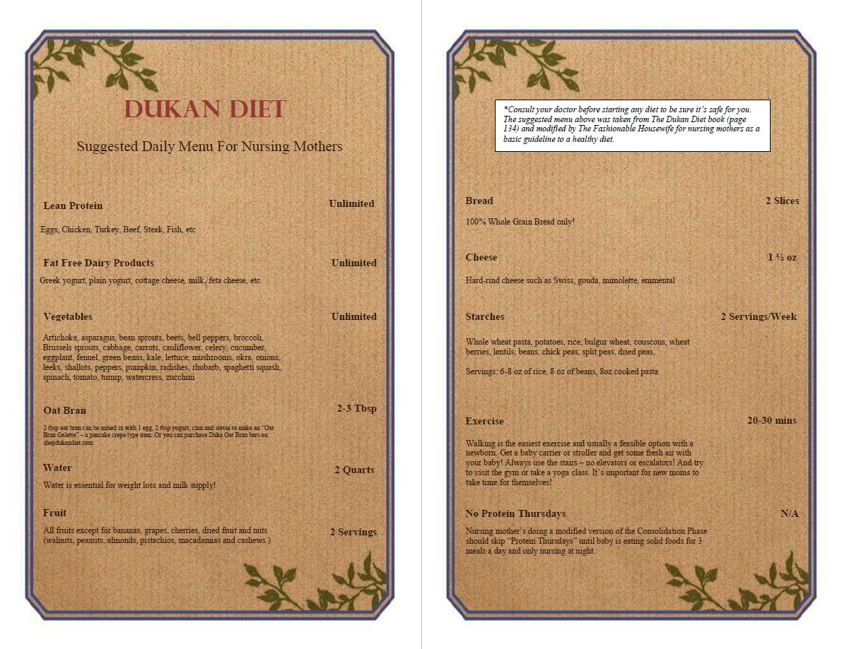 dukan diéta 1 szakasz mintaétrend
