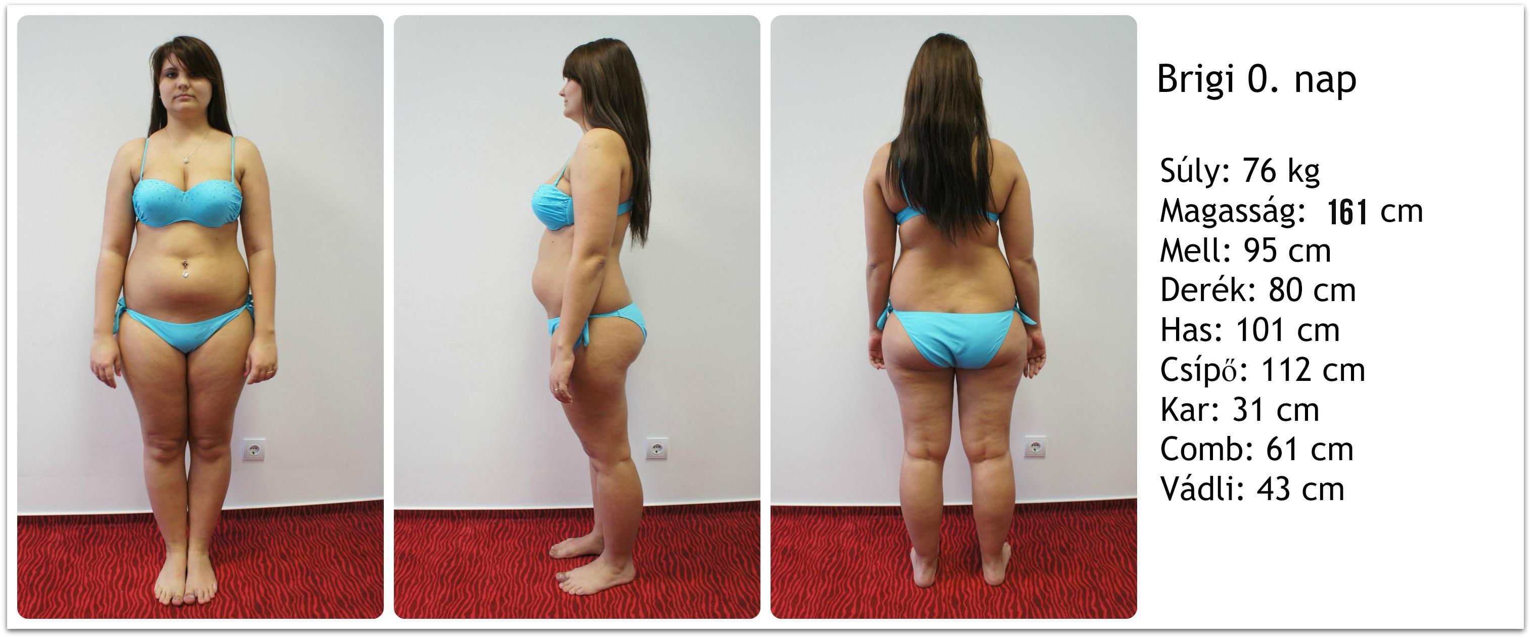 1 hónapos fogyási különbség