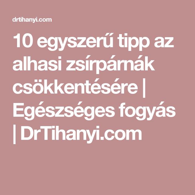 10 tipp az egészséges fogyáshoz