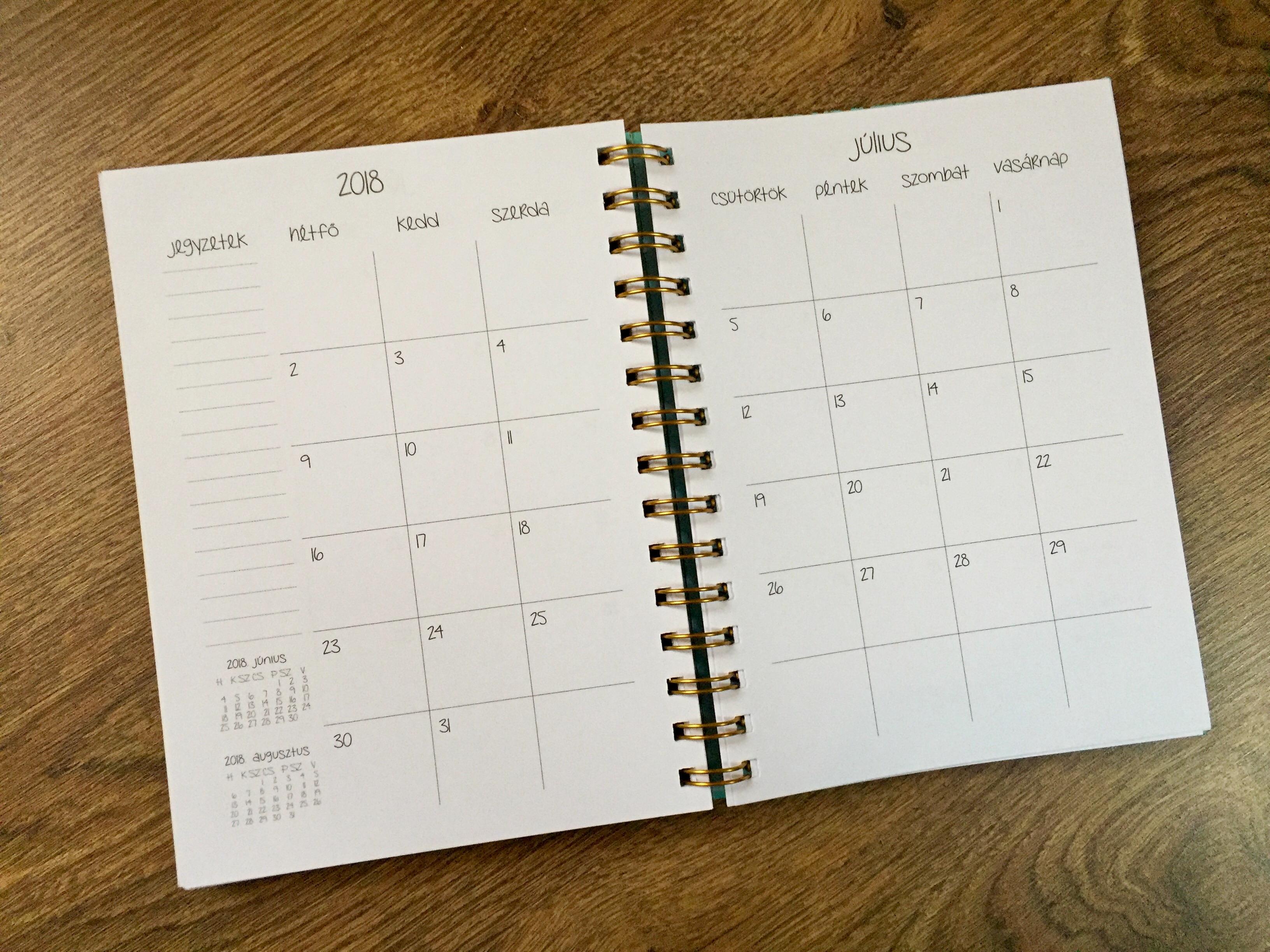 naptár fogyni