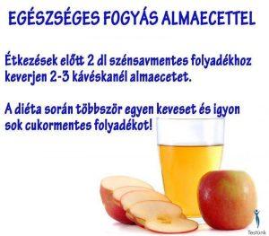 Így fogyaszd az almaecetet a fogyás érdekében