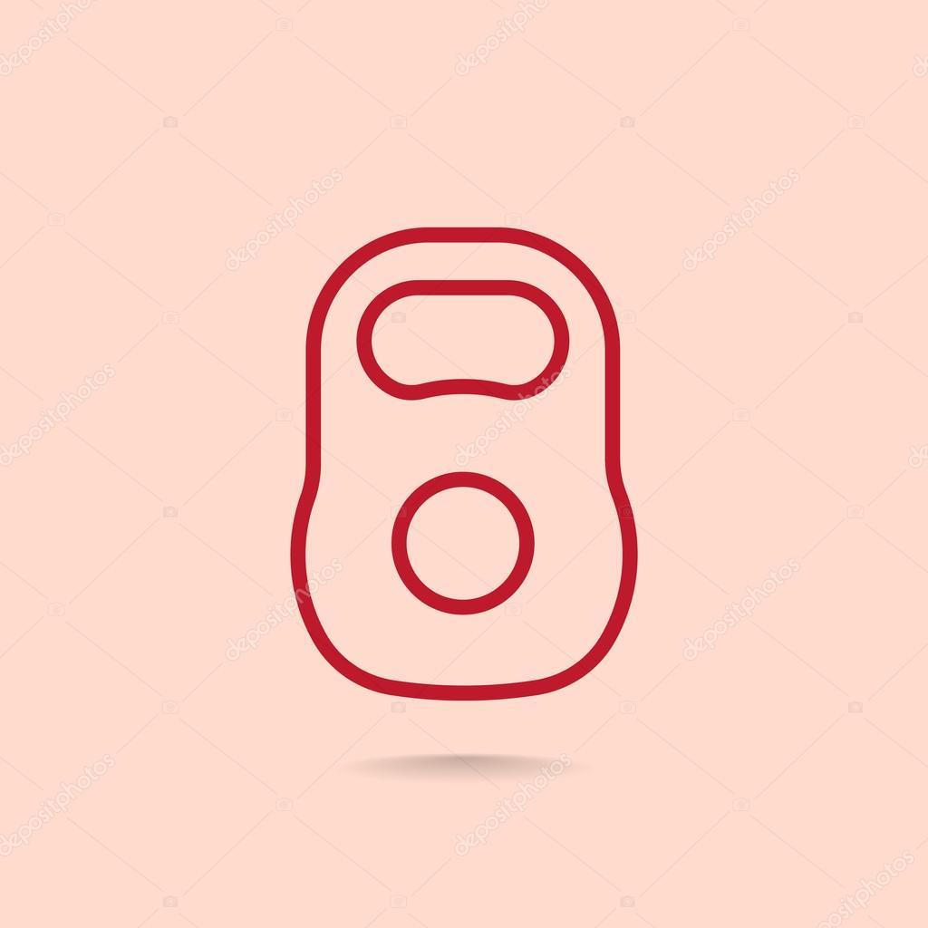veszteség súly ikon